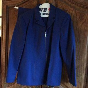 Blue pants suit 2 pc